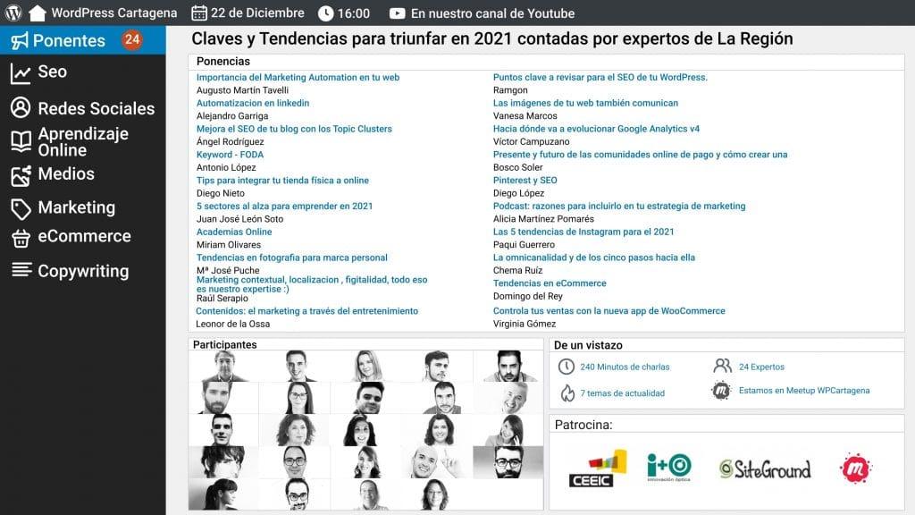 Meetup wordpress Cartagena Tendencias marketing digital 2021