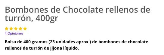 Bombones de chocolate y turrón