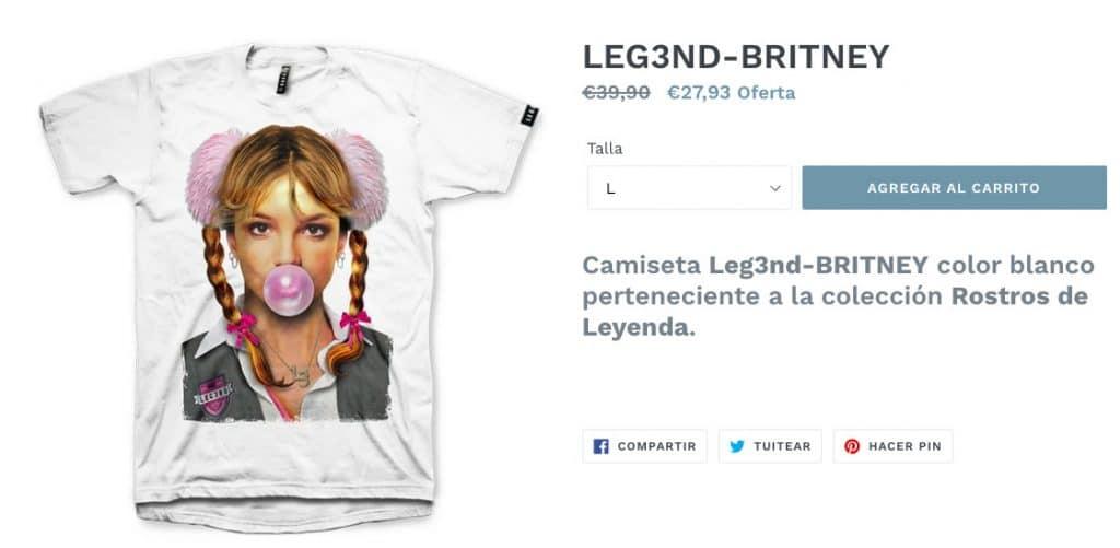 Camiseta Britney Spears de L3gend