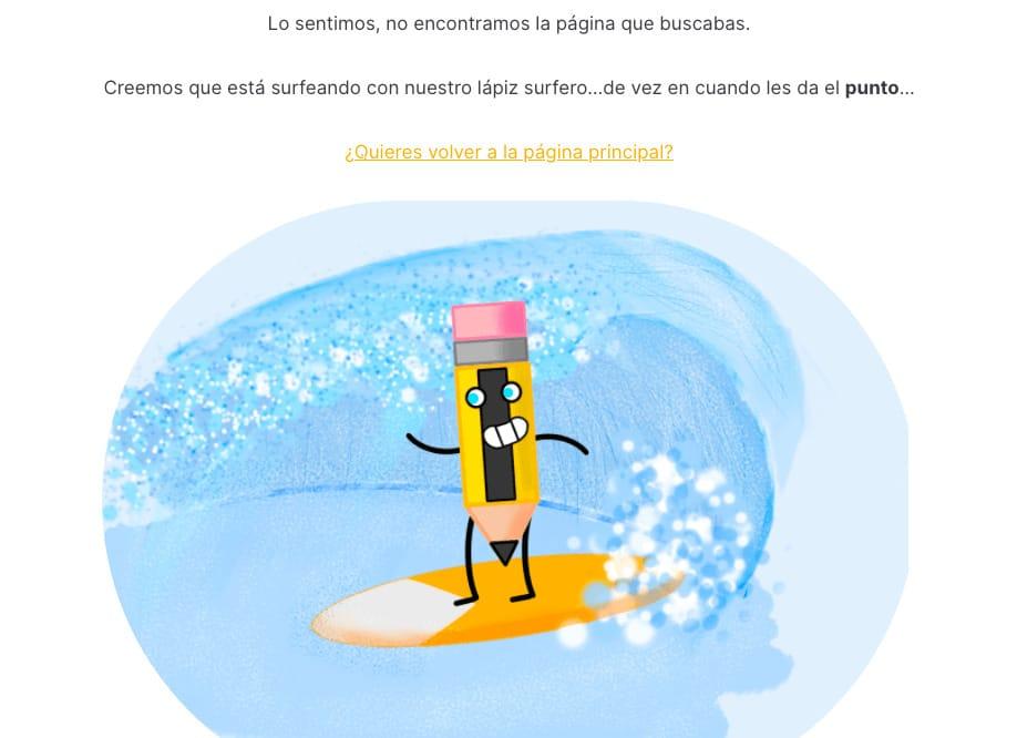 Página de error 404 de 1puntoencomun.com agencia de marketing de contenidos y SEO local