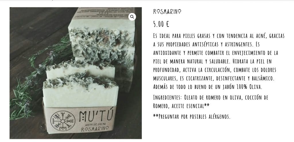 Características de producto Mutu